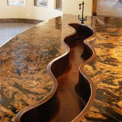 Premier Copper Hammered Custom Made Bar Sink - Premier Copper Products