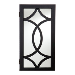 Cora Wall-Mount Jewelry Mirror, Black