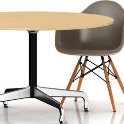 Eames Table with Round Top and Segmented Base - Herman Miller - This simple modern table by Charles and Ray Eames is a great fit for an eat-in kitchen, small dining room, playroom or craft room. Available in three different sizes, surely you can find one that fits your needs.