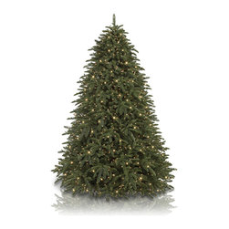 Balsam Hill - 6.5' Balsam Hill Shasta Fir Artificial Christmas Tree - Clear - Beautiful as it is highly efficient, our 6.5-foot Balsam Hill Shasta Fir Artificial Christmas Tree - Clear Lights offers elegance and functionality through its Easy Plug™ setup and power pole feature. With just a single plug connected directly to a wall socket, your prelit Christmas tree will come to life with the 700 expertly strung clear lights that adorn it. The top tip of our Shasta Fir has also been strengthened to help support your prized tree topper, while a female tree topper cord has been built to help power the ornament. Our artificial tree exhibits a mix of 2,373 classic needle and True Needle™ tips with a pear shape and lush green tone. To make setup, styling, and storage even more convenient, our tree comes with a green metal stand, foot pedal, two pairs of gloves, and a tree bag. With the Shasta Fir artificial Christmas tree from Balsam Hill, you can welcome into your home the majestic beauty of Northern California.Balsam Hill's mission is to create the world's most beautiful and realistic artificial Christmas trees. We are committed to providing our customers with a picture-perfect holiday. With options like remote-controlled pre-strung lights, our luxurious trees will let you sit back and enjoy Christmas to the fullest, this year and for years to come. Our trees are designed using branches from real trees, and our exclusive True Needle™ technology creates the most realistic looking and feeling branch tips. You and your guests may not believe that your gorgeous Balsam Hill Christmas tree is artificial. Balsam Hill's trees have won awards for their realism and have been featured in movies, television shows, and celebrity homes. Our wide range of styles and sizes ensures you will be able to find a tree that fits perfectly in your home. We also have a range of beautiful wreaths and garlands to put the finishing touches on your home this holiday season.