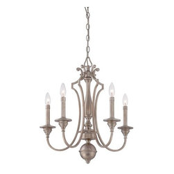 Minka Lavery - Minka Lavery 4865-279 5 Light 1 Tier Candle Style Chandelier Wellington - Five Light Single Tier Candle Style Chandelier from the Wellington Ave. CollectionFeatures: