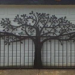 Oak Tree Driveway Gates - Me