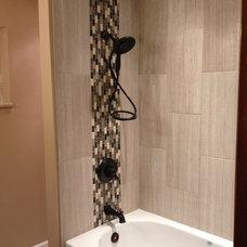 Modern Tile Rennovated Bathroom
