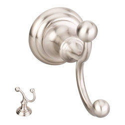 Hardware Resources - Elements Conventional Robe Hook - Satin Nickel - Element is the premier manufacturer and importer of the finest decorative cabinet and furniture hardware. - Finish - Satin Nickel