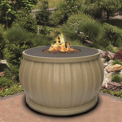 California Outdoor Concepts - El Paseo Chat Fire Pit Table - Nice fire feature for a patio or outdoor area with a touch of Asian inspiration.