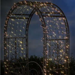 Solar String Lights with White LEDs - Decorate architectural features in your garden with tiny lights for a fantasy effect at night.