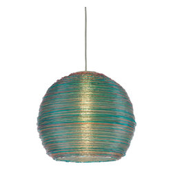 Sterling Industries - 144-010 Telford - 13 Inch Multi - Colored Spun Acrylic Pendant - Pendant (1)