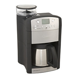 Capresso - Capresso 465 CoffeeTeam TS 10-cup Digital Coffeemaker with Conical Burr Grinder - Prepare your coffee in the morning with this sleek digital coffeemaker from Capresso. This appliance features a fully programmable control pattern and innovative direct-feed technology. Its stainless steel finish will give your kitchen a modern feel.
