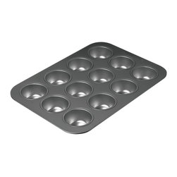 Chicago Metallic 12 Cup Muffin Pan - Your cupcakes and muffins will come tumbling out of our 12 Cup Muffin pan with or without liners. This pan creates nicely browned muffins and cupcakes that are mouthwateringly moist living up to the demanding standards of the modern chef.  Product Features      Heavy Duty Construction   Non-stick   Easy release   Dishwasher Safe