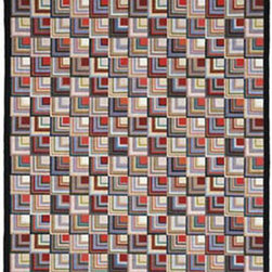 Log Cabin 9x12 - Claire Murray Hand Hooked Rugs