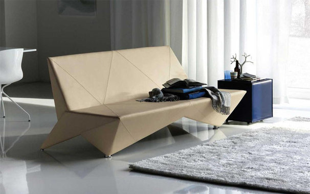 Modern Futons Origami Modern Leather Sofa-Bed By Cattelan Italia