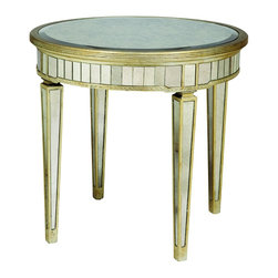 Bassett Mirror - Borghese Mirrored Library Table - Borghese Mirrored Library Table by Bassett Mirror