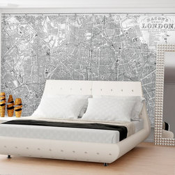 Swag Paper - Swag Paper Map of Victorian 1890 London Self-Adhesive Wallpaper - MLONDONBW1 - Shop for Wallpaper from Hayneedle.com! From West Kensington to the West India Docks Hampstead down to North Brixton and Camberwell the Swag Paper Map of Victorian 1890 London Self-Adhesive Wallpaper gives you a glimpse of how London looked in 1890. This wallpaper design is a beautiful reproduction of the Traveler's Pocket Map of London originally published by George Washington Bacon in 1890. Breathtaking in its scale and authenticity this map is a distinguished addition to your home. It comes in your choice of available colors and sizes.The Tools You'll Need:Tape measureSpongeStraight edgeLevel (optional)Utility knife or razor bladePlastic smoother (a credit card also works)Step stool or ladderEasy Installation Instructions:Measure the width of your wall in feetDivided the width by 2 to find the number of panels you'll needPeel backing by about 8 to 12 inches and apply to wallSmooth overKeep pulling the backing away in 8- to 12-inch incrementsTrim off the excess materialOverlap panels by 1 inch to match patternsCreate a butt seam by cutting the top overlapping layer of wallpaper removing it and smoothing overSwag Paper - Empowering the Do-It-Yourselfer:Forget the paste the crinkles and cutting rolls of wallpaper to make the patterns match. Dave and Daniela Fields a brother-and-sister team developed Swag Paper for Do-It-Yourselfers with high aspirations and little time. Their adhesive-backed panels apply in a fraction of the time it takes to apply traditional wallpaper and all you really need in the way of tools is a tape measure sponge straight edge utility knife and credit card. Swag Paper is removable non-destructive and residue free making it the go-to solution for renters with big decorating plans.About Swag Paper s Vintage Maps CollectionWith their Vintage Maps Collection the style experts at Swag Paper have designed an amazing new way to create a show-stopping space. Th