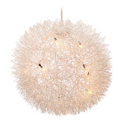 Warp Ceiling Lamp - This would look so pretty in a powder room or even over a bathtub. It would add nice ambiance to a space.