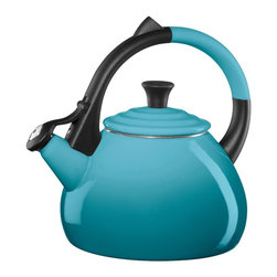 Le Creuset - Le Creuset Enameled Steel 1.9-Quart Oolong Tea Kettle - Chinese oolong tea inspired this kettle. Made with sturdy carbon steel and finished with a vibrant porcelain enamel finish, it combines precise craftsmanship with the colorful style and beauty that only Le Creuset can offer. The kettle's colorful anti-slip handle adds both style and convenience, while its single-handed pouring operation keeps hands away from steam at the spout when serving.