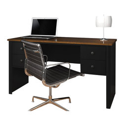 Bestar - Bestar Somerville Executive Desk in Black and Tuscany Brown - Bestar - Executive Desks - 454501118