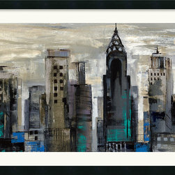 Amanti Art - New York Moment Framed Print by Silvia Vassileva - Silvia Vassileva captures the might and majesty of the urban landscape in New York Minute