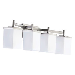 Quorum Lighting - Quorum Lighting QR-5084-4-65 Delta Modern / Contemporary Bathroom / Vanity Light - Quorum Lighting QR-5084-4-65 Delta Modern / Contemporary Bathroom / Vanity Light