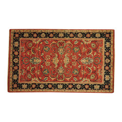 Antiqued Heriz Recreation 4'x7' Hand Knotted Oriental Rug Hand Spun Wool SH14748 - This collection consists of fine knotted rugs.  The knots per square inch means more material in the rug as well as more labor.  This leads to a finer rug and a more expoensive rug.  Classical and traditional persian motifs are usually used as designs in these rugs.