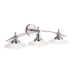 Kichler Lighting - Kichler Lighting 6463 Structures 3 Light Vanity - 3, 100W Mini-Can Halogen