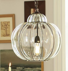 Caged Glass Pendant | Pottery Barn