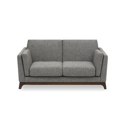 Bryght - Ceni Coral Gray Loveseat - The Ceni Coral loveseat fuses the classic with the modern, with its neutral tone, plush seating, sleek track arms and clean design lines. Its beautifully crafted wooden base with slanted legs enhances its strong and sturdy construction, while its detachable cushion seats, backrests and armrests allow you to snuggle up comfortably. Team the Ceni Umber loveseat with the Ceni Coral armchair or Ceni Coral sofa for a perfect look