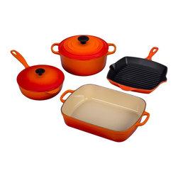shop le creuset cast iron cookware set cookware on houzz. Black Bedroom Furniture Sets. Home Design Ideas