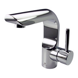 Fresca - Fresca Mazaro Single Hole Mount Bathroom Vanity Faucet - Chrome - This single hole faucet is made from heavy duty brass with a chrome finish. Features a Hydroplast mixing valve with water saving control.
