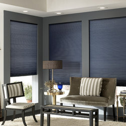 Window Treatments for Bathrooms: Cordless Cellular Shades - Choose cellular shades when you'd like to inject some color into your look. A light filtering fabric will allow you to maintain complete privacy without blocking natural light.
