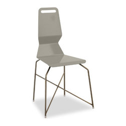 """Elemental Living - Ruus Dining Chair - Economy of materials, style, and comfort conspired to create this dynamic and colorful dining chair. The simple form of the powder coated steel seat is the right size with just enough flex for long meals with friends and family. The vibrant seat is supported by zinc plated, steel rod legs. All steel construction and highly durable finishes mean this chair will endure years and years of stylish use. Features: -Ruus collection. -Available in several seat colors. -Simple form powder coated steel seat. -Zinc plated, steel rod legs. -Made in the USA. -Overall dimensions: 36"""" H x 21"""" W x 20"""" D."""