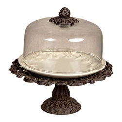 GG Collection - The GG Collection Cheese/Dessert Pedestal w/Dome - The GG Collection Cheese/Dessert Pedestal with Dome