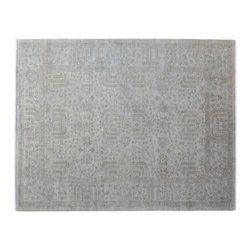 Silver Wash Peshawar 6'x9' Willow Tree Design Hand Knotted Oriental Rug SH15159 - Hand Knotted Oushak & Peshawar Rugs are highly demanded by interior designers.  They are known for their soft & subtle appearance.  They are composed of 100% hand spun wool as well as natural & vegetable dyes. The whole color concept of these rugs is earth tones.