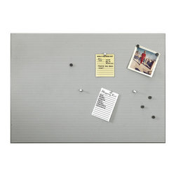 "Umbra - Umbra Bulletboard 15""x21"" Perforated Metal Bulletin Board - Modern and industrial in design, the Bulletin board bulletin board from Umbra features perforated metal construction that cleverly accommodates both pushpins and magnets. This contemporary twist on the classic cork board brings a sleek look to home or office. Kit includes 12 silver pushpins, 12 black magnets, and concealed mounting hardware."