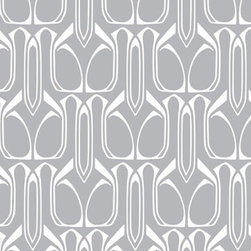 Silver Temporary Wallpaper - If you want to create beautiful surroundings in a playroom but can't or won't commit to permanent wallpaper, consider this temporary geometric design. Easy to reapply, reposition, and remove, this is a great option in a room that seems to change week to week.