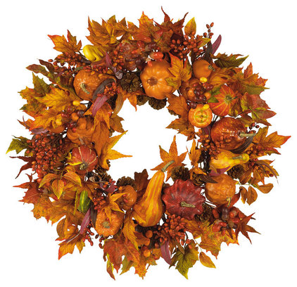 Contemporary Wreaths And Garlands by Nearly Natural