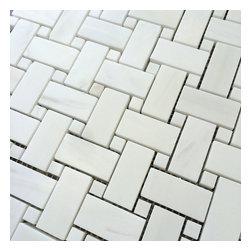 Stone & Co - Bianco Dolomiti Marble 1 x 2 Basket Weave Mosaic - Finish: Polished