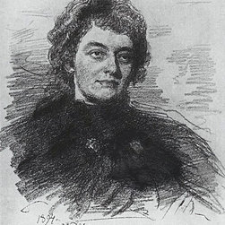"""Ilia Efimovich Repin Portrait of Poetess, Writer Print - 16"""" x 24"""" Ilia Efimovich Repin Portrait of Poetess, Writer and Literary Critic Zinaida Nikolayevna Gippius. premium archival print reproduced to meet museum quality standards. Our museum quality archival prints are produced using high-precision print technology for a more accurate reproduction printed on high quality, heavyweight matte presentation paper with fade-resistant, archival inks. Our progressive business model allows us to offer works of art to you at the best wholesale pricing, significantly less than art gallery prices, affordable to all. This line of artwork is produced with extra white border space (if you choose to have it framed, for your framer to work with to frame properly or utilize a larger mat and/or frame).  We present a comprehensive collection of exceptional art reproductions byIlia Efimovich Repin."""