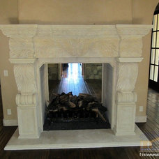 Indoor Fireplaces by Visionmakers Custom Stone & Iron Doors