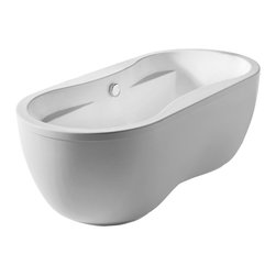 Whitehaus Collection - Whitehaus WHDB170BATH Oval Double Sided Freestanding Acrylic Soaking Bathtub - The new Bathhaus series of freestanding bathtubs by Whitehaus Collection lets you indulge in luxury that will melt away your stress and leave you feeling rejuvenated. This elegant bathtub creates a warm and relaxing atmosphere with its unique traditional tub design with modern twists. Don't compromise on quality - enjoy this high end tub by Whitehaus Collection and create a daily getaway experience in the comfort of your own home.