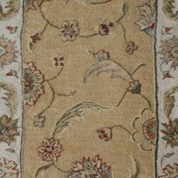 "Dynamic - Jewel Traditional, Gold / Border Color Beige, 26"" Runner - Stair & Hallway Runners Are Sold By The Linear Foot!  Quantity 1 = 1 Linear Ft  All Sides Are Finished   Jewel 70113-770  26"