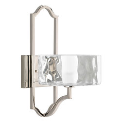Progress Lighting - Progress Lighting P7046-104Wb One-Light Wall Sconce W/Bulb With Glass Diffuser - One-light wall sconce with bulb