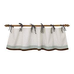 Cotton Tale Designs - Arctic Babies Valance - A quality baby bedding set is essential in making your nursery warm and inviting. All Cotton Tale patterns are made using quality materials and are uniquely designed to create your perfect nursery. The Arctic valance is straight with bias ties and a red tundra velvet trim. The valance measurers 53 in. W x 14 in. H.