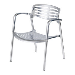 Nuevo Living - Vienna Dining Chair - Chrome and Aluminum - Modern Furniture by Nuevo - HGGA300 - The Vienna dining chair is spectacular with its aluminum frame and shiny chrome finish.  Add a modern touch to your dining room or seating area with this great modern dining chiar.