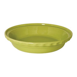 Chantal - Chantal 9.5 in. Lime Green Deep Dish Pie Dish - Set of 2 - 93-PDD24 S/2 GM - Shop for Pie Dishes from Hayneedle.com! The Chantal 9.5 in. Lime Green Deep Dish Pie Dish - Set of 2 makes a generous gift for your family's gourmand. Each of these pair of pie dishes is a perfect addition to any kitchen featuring a fine hand-sanded ceramic construction designed to evenly distribute heat ensuring that your dishes cook as evenly as possible. Its charming lime green protective glaze is non-porous and won't affect the flavor of the food in the slightest. Each dish has a 1.75-qt. capacity that's great for bigger occasions and is dishwasher microwave oven and freezer safe. About Chantal Cookware CorporationAs the most renowned name in enamel-on-steel cookware today US-based Chantal Cookware Corporation was the first to bring dramatic color tempered glass lids stay-cool handles and environmentally-friendly cookware for cooking serving and storing to the world's market. Founded in 1971 by engineer Heida Thurlow the first woman in the US to launch and run a cookware company Chantal has received 26 design and utility patents from the US and Germany.