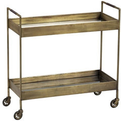 traditional bar carts by Crate&Barrel