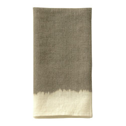 Ombre Dyed Guest Towel - Natural/ Cream - A guest towel of unconventional beauty that bestows panache to the powder room. The soft, blended coloration of the Ombre Dyed Guest Towel - Natural/Cream suggests the gentle meeting of sun-warmed earth and evening sky. This enchanting towel offers your guests refined comfort, while the soft coloration allows for ease in blending with the appurtenances of transitional baths either subtle or bold in color.