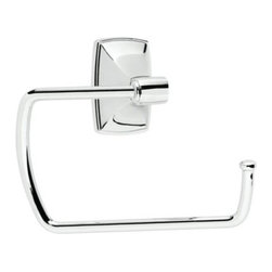 None - Amerock Clarendon Chrome Bath Towel Ring - Update your bathroom with this quality Amerock towel ring, featuring a chrome finish. The sophisticated Clarendon towel ring adds to any home's decor.