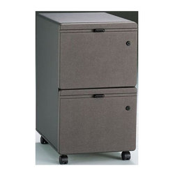 Bush Business - Two Drawer Lateral File Cabinet for Letter - Two drawers hold letter- or legal-size files. One gang lock secures both drawers. Full-extension, ball-bearing slides. Fits under 36 in., 48 in., 60 in. and 72 in. Desks. Casters for easy mobility when loaded