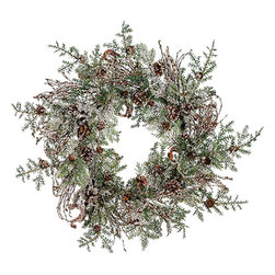 Rustic Woodland Iced Christmas Wreath with Pinecones - I love this wreath! It's just right for winter and would look stunning against a door painted a dark navy or black.