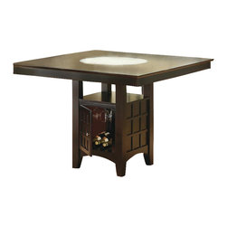 Coaster - Coaster Hyde Counter Height Square Dining Table with Storage Base in Cappuccino - Coaster - Dining Tables - 100438